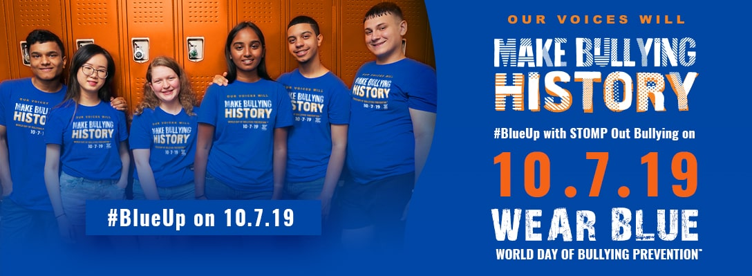 National Bullying Awareness Month – Wear Blue 10.7.19